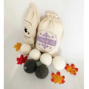 Bolas para secadora con aceite esencial lavanda